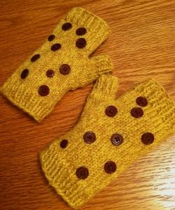 Harley's giraffe mitts!